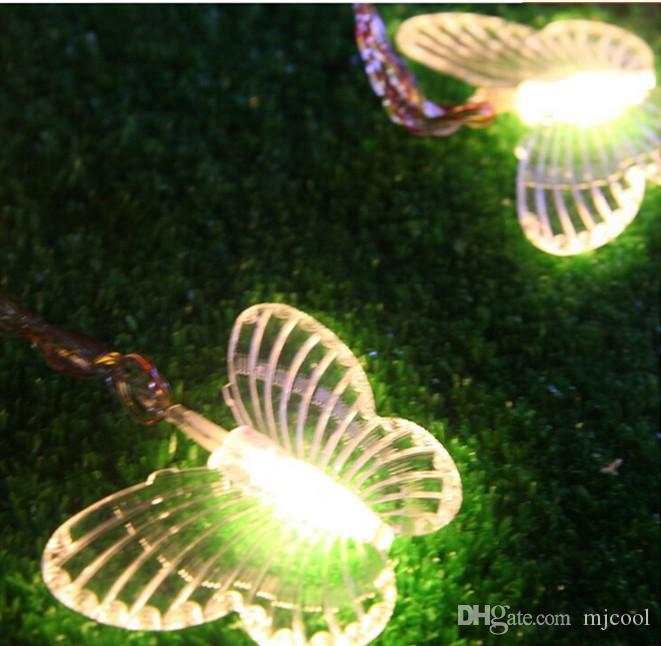 Holiday Christmas lights 10M 50led butterfly lanterns with tail sets of wedding supplies garden decoration AC110V-220V