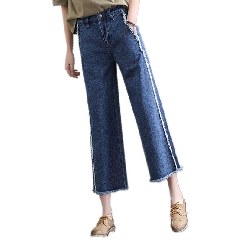 Acheter 2017 Femmes Nouvelles Plus Jeans Flare Pantalon Mode vIb7fgyY6
