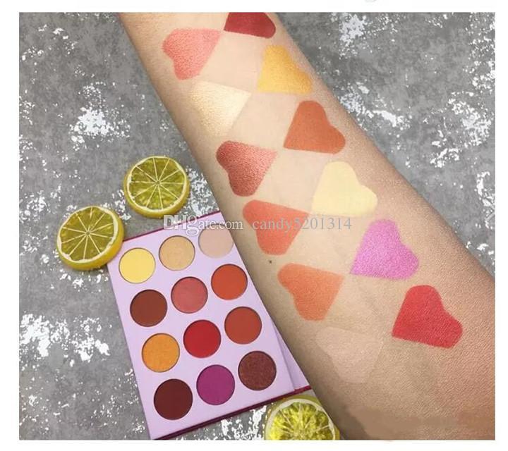 Nueva marca Aurelife Liberties / Release Heart Pressed Powder Nake Shadow Palette Matte Shimmer de sombra de ojos Paleta Sombra de ojos