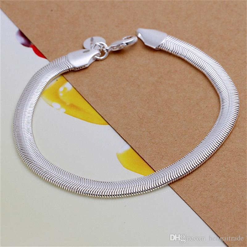 / lotto Commercio all'ingrosso libero di trasporto dell'argento sterlina 925 ha placcato il braccialetto di jadoku morbido - uomini LKNSPCH164