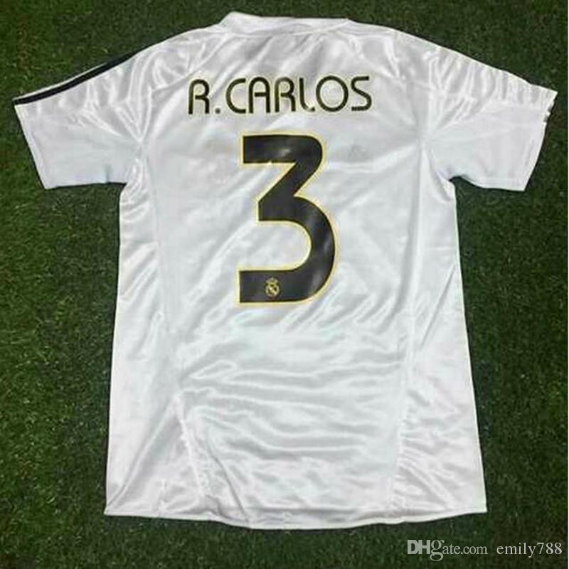 ccc059dce61 ... Customzie 2004 2005 Real Madrid Retro Soccer Jersey Home Customize Name  Number Top Thai 3AAA Quality ...