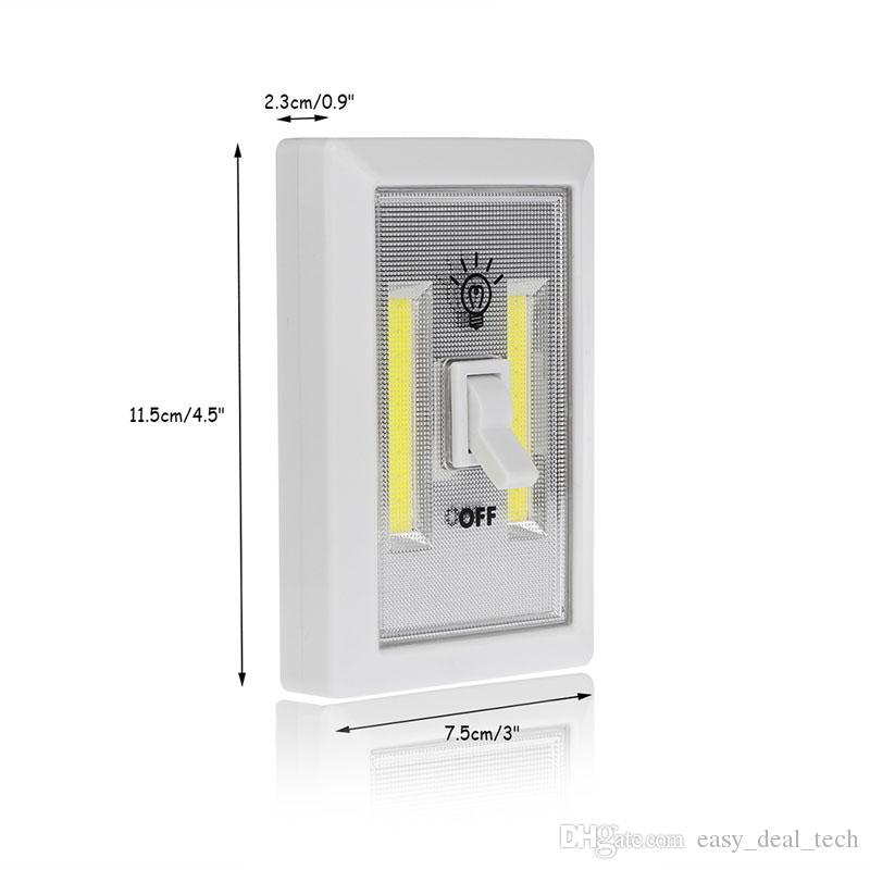 Wall Night Battery Operated Cordless Light Switch Camping COB LED Kitchen Cabinet Garage Emergency Closet Wireless Lamp ZJ0338