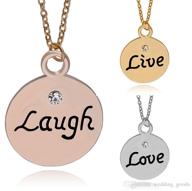 765826105 Wholesale Best Gift Popular Jewelry Good Friends Best Friend Girlfriend  Pendant Necklace WFN463 With Chain A Diamond Necklaces Pendants For  Necklace From ...
