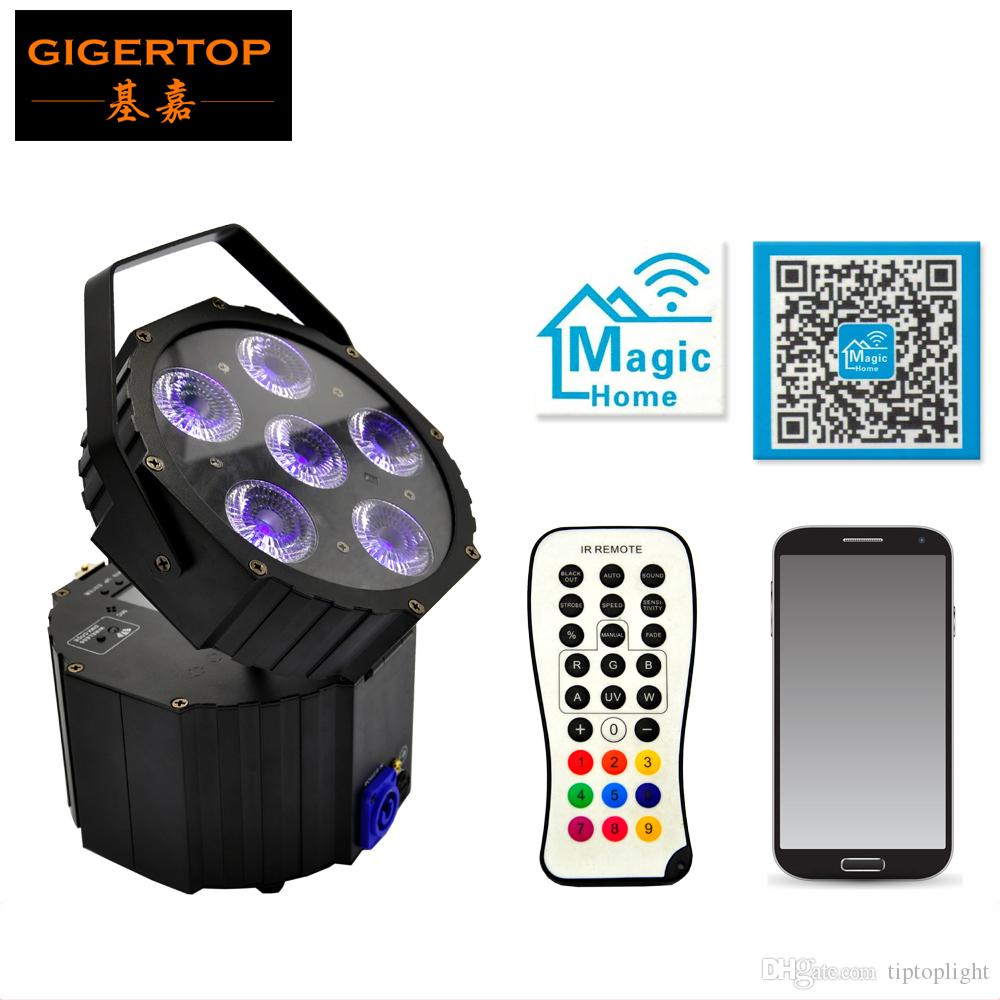 TIPTOP TP-G3036-6IN1 Disco Replaceable battery powered dj light 6x18W DMX Control DMX wireless control Sound Music Led Display