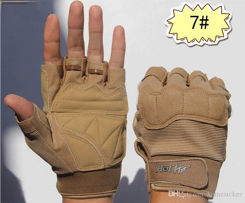 Versione aggiornata guanti tattici digitali maschio / femmina sport all'aperto antiscivolo caldo equipaggiamento ciclistico guanti combattimento tattico senza dita