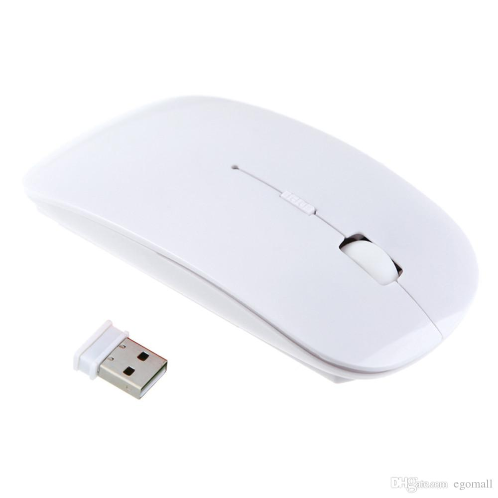 Candy color ultra thin wireless mouse and receiver 2.4G USB optical Colorful Special offer computer mouse