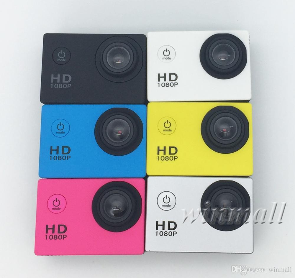 Más barato A7 2 Pulgadas Pantalla LCD 1080 P Casco Deportes DV Video Cam Cámara DV Acción Submarino 30M Cámara a prueba de agua