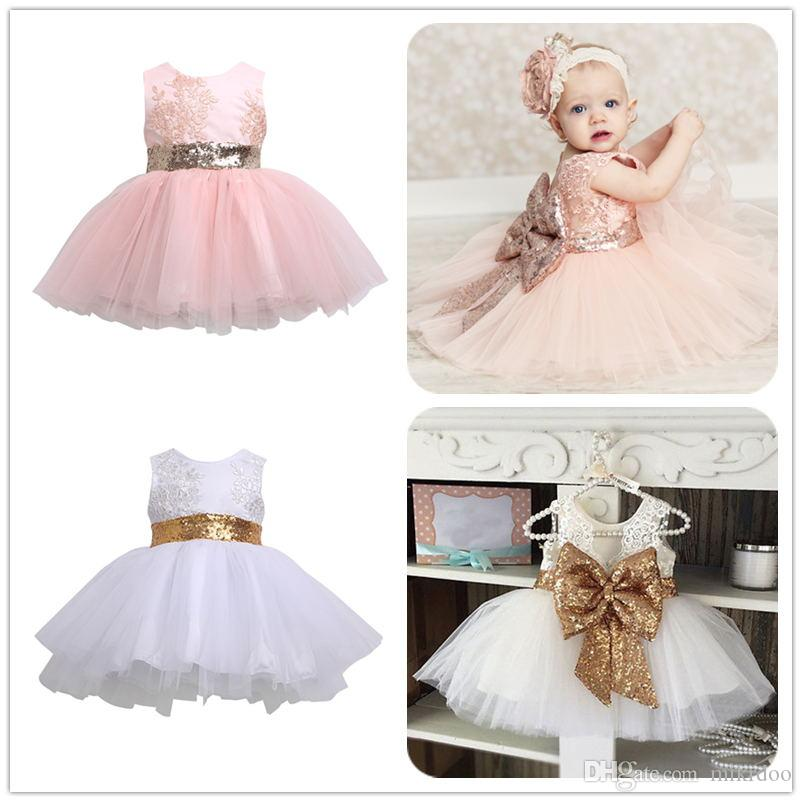 26c844b49a76 2019 Mikrdoo Sweet Princess Dress Kids Baby Girl Sleeveless Evening ...