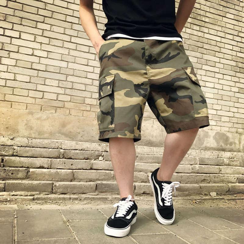 Оптовая моды Человек шорты лето Mens хлопка Сыпучие Kanye West Военный камуфляж шорты для мужчин Justin Bieber Бесплатная доставка