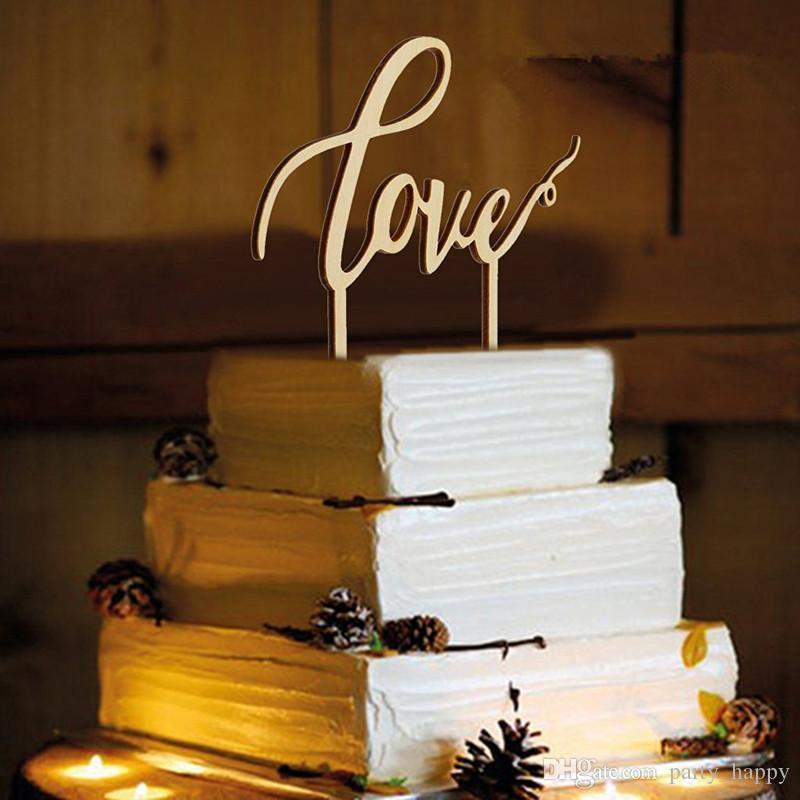 Grosshandel Liebesbrief Cake Topper Hochzeitstorte Eingefugt Karte