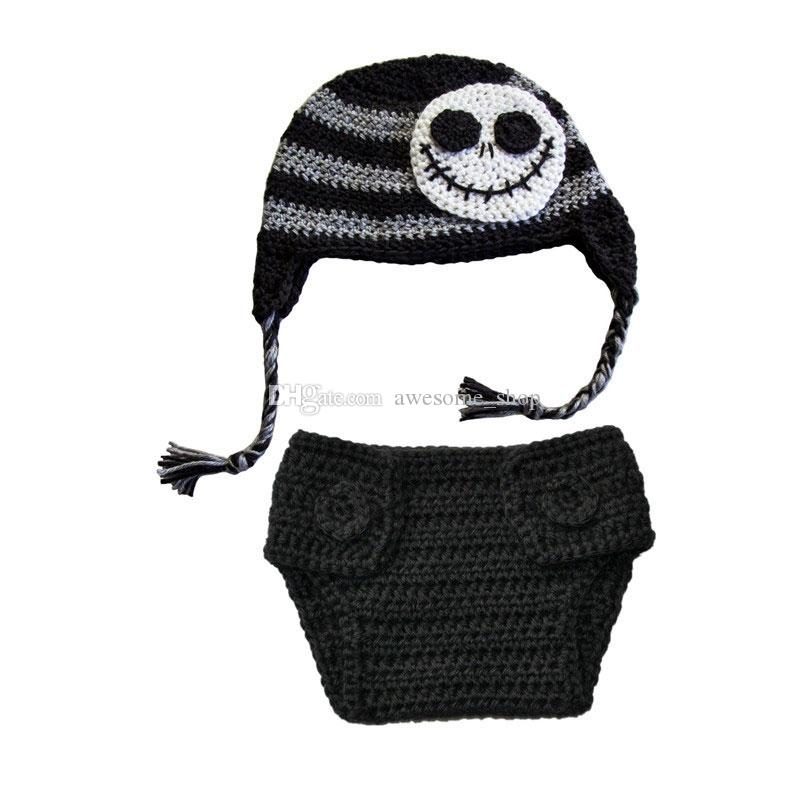 Großhandel Häkeln Sie Baby Jack Skellington Kostüm Handgemachte