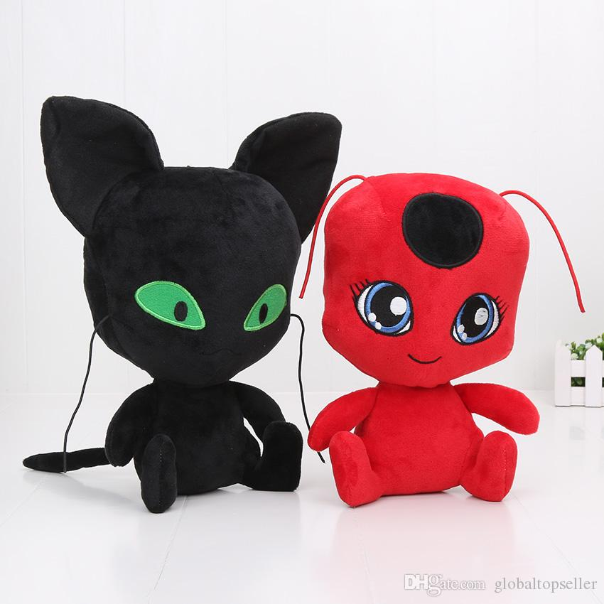 2018 24 30cm Miraculous Ladybug And Cat Noir Juguetes Plush Doll Cartoon  Movie Toy Adrien Marinette Stuffed Plush Toys From Globaltopseller, $6.54 |  Dhgate.