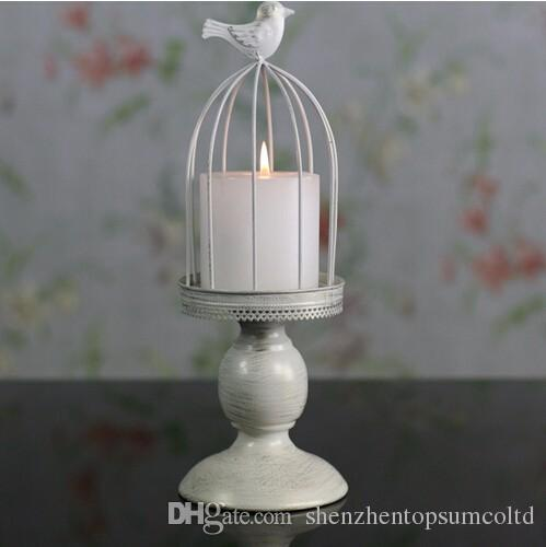 New design candle holder factory sales europe birdcage lantern Continental Iron Candle Holders wedding home candlestick freeship