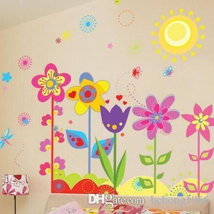 Adesivi Murali In Pvc.Adesivi Murali Pvc Paesaggio Paesaggio Carta Da Parati Murale Arte Film Stile Pastorale Adesivo In Vinile Camera Dei Bambini Home Decor 2 5dz J R