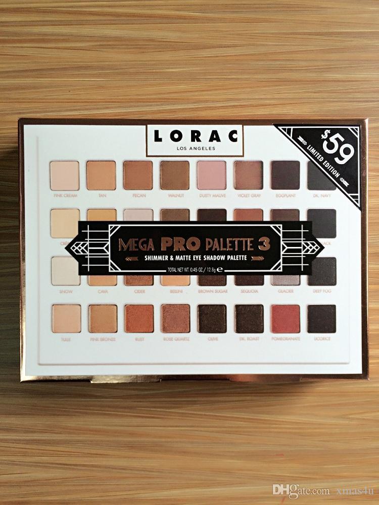 12 Stück Auf Lager Lorac Mega Pro 3 Palette Limitierte Edition Lidschatten-Palette 32 Shades Vs Shimmer Matte Lidschatten-Palette