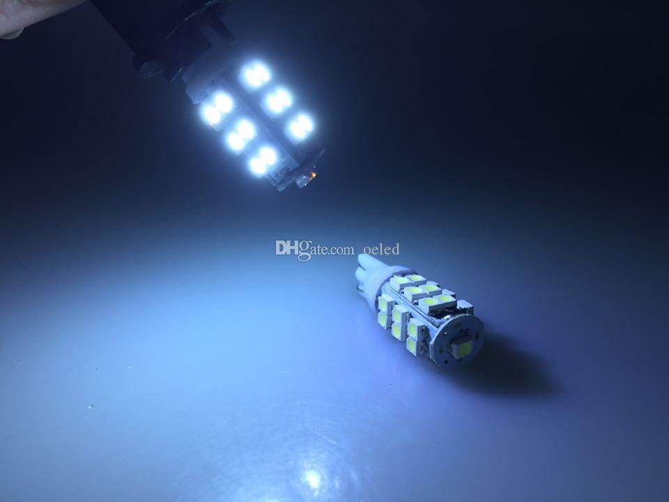 20x White T10 25 SMD 1210 LED Bulbs W5W DC 12V 1.5W Wedge Light Bulbs License Plate Light Clearance Lights