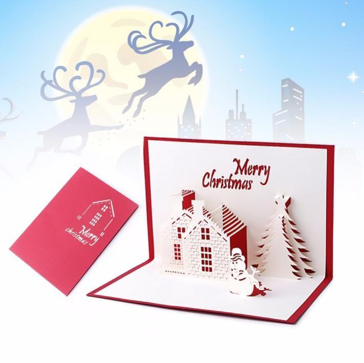 Christmas Cards 3D Pop Up Merry Christmas Series Handmade Custom ...
