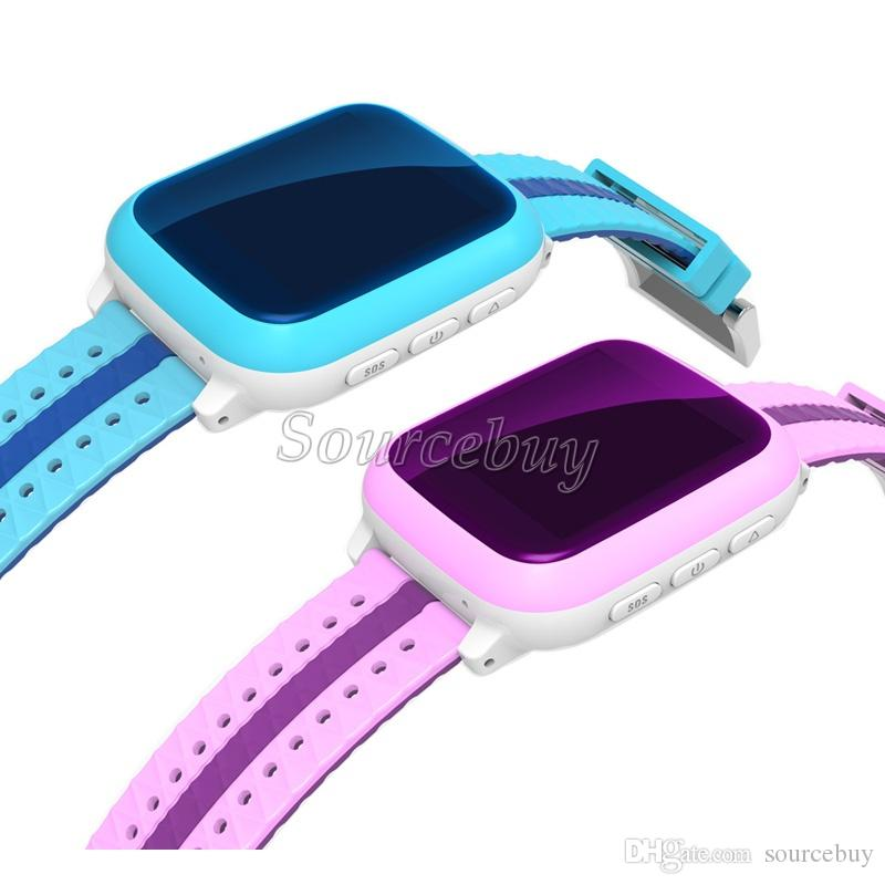 IP65 Waterproof Kids Watches DS18 Scratch-proof Tempered Glass Screen Dial SOS Help LBS GPS Location Sleep Traker Wifi SIM Child Baby Watch