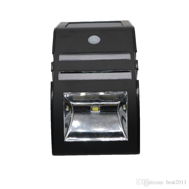 Solar LED Light Stainless Steel Solar Light Sensor Body Infrared Induction Lamp 2LED Outdoor Lamp Wall Lamp PIR