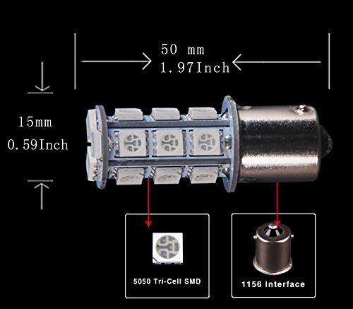 1156 led bulb 1157 car lights WHITE dc 12V 18 LEDs 5050 SMD BLANCO brake turn reverse lamp