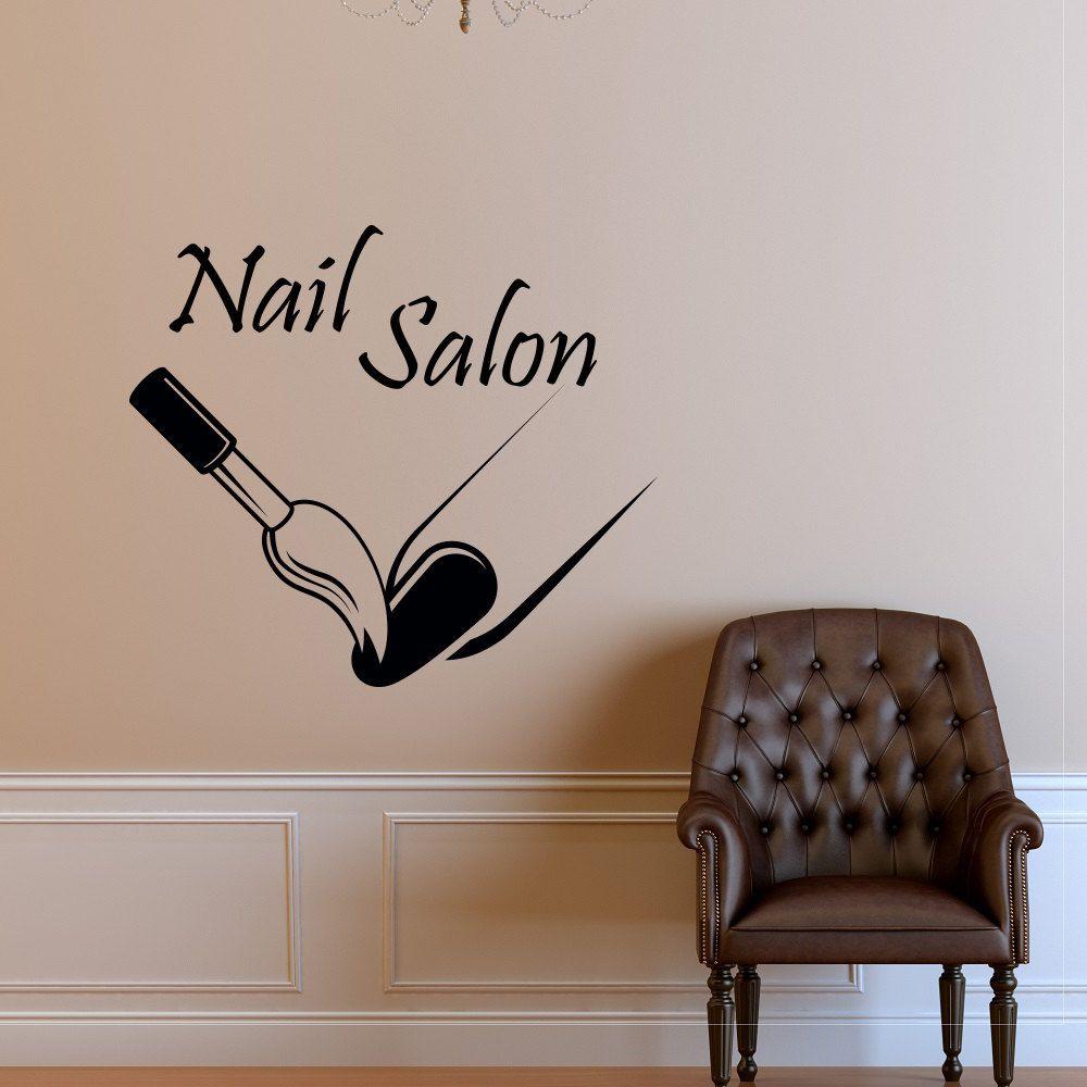Fashion Nail Salon Wall Decal Nail Polish Modern Vinyl