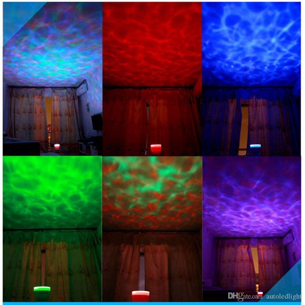 Indoor Colorful Led Night Lights Projector Ocean Daren Waves Aurora Master Projection USB Light Lamp With Speaker Novelty Lighting