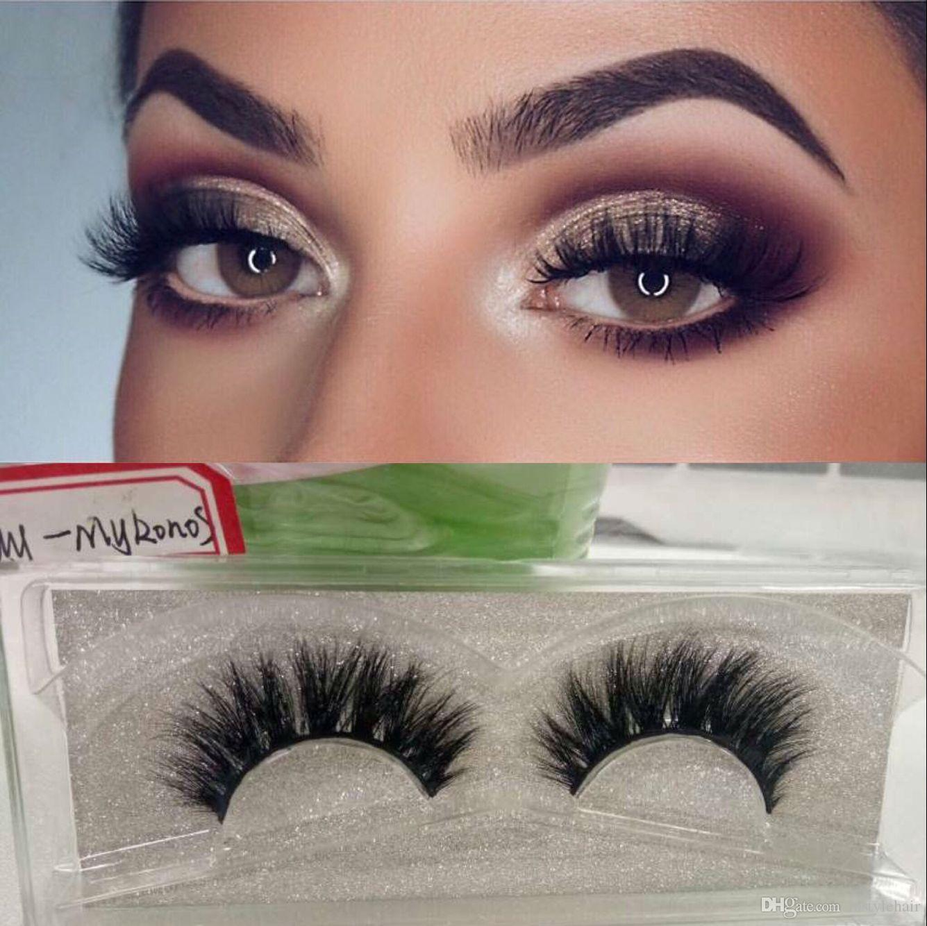 Super Natural Handmade False Eyelash 3d Strip Mink Lashes Thick Fake