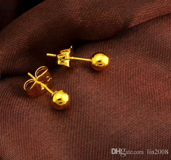 Partihandel blommor stud örhänge, 24K guldpläterad klassisk 2014 kvinnor bröllop eller varje dag smycken gratis frakt