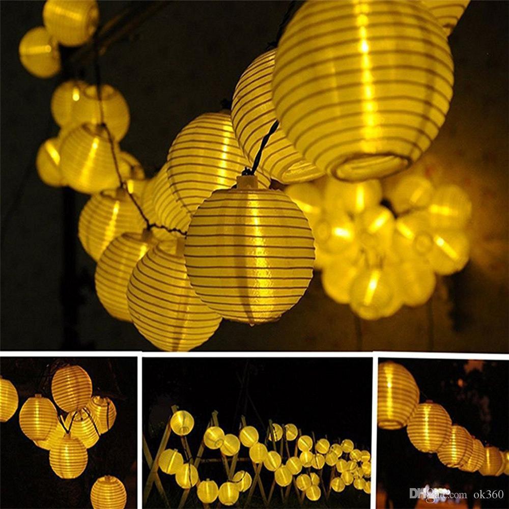 Lantern Ball Solar String Lights 10 20 30 LED Solar Lamp Outdoor Lighting Fairy Globe Christmas Decorative Light for Party Holiday