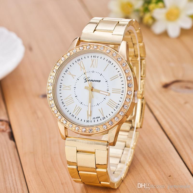 Geneva Ms Hot stylesell tong watch Geneva set auger alloy watch Geneva watches Roman watches