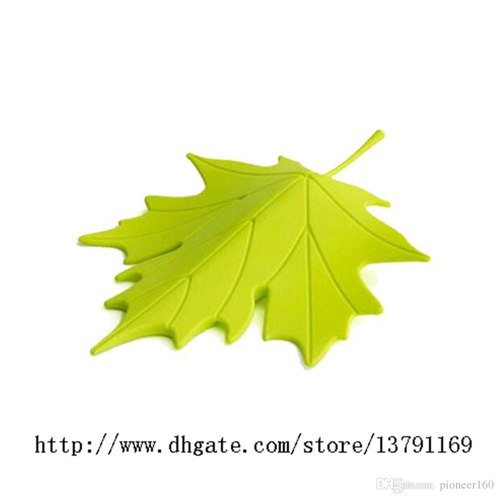 Carino plastica autunno Maple Leaf Style Door Stopper Ornamento decorativo Domestico Fermaporta di sicurezza Finger Stopper Holder Verde