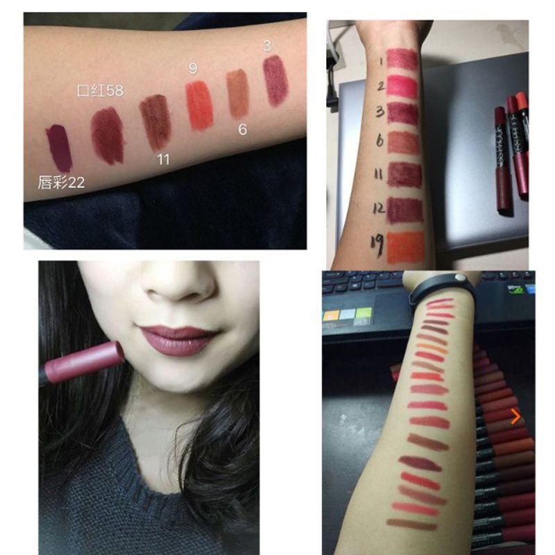 Prueba del comprador venta al por mayor es KISS PROOF Sexy belleza impermeable lápiz labial lápiz labial pluma duradera antiadherente taza