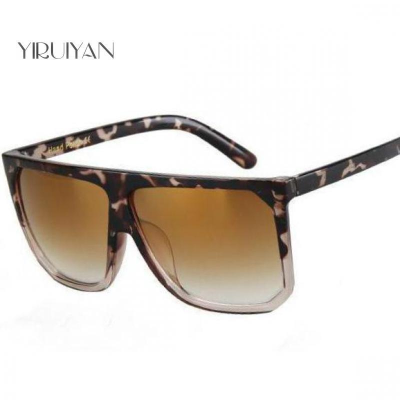 Compre 5 Peças Atacado Moda Óculos De Sol Das Mulheres Flat Top Design Da  Marca De Estilo Óculos De Sol Do Vintage Feminino Shades Big Frame Máscaras  De ... aa33a00152
