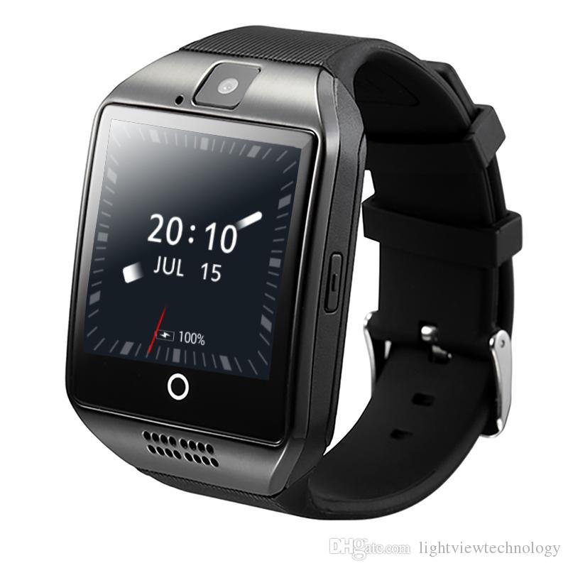 e8893346268 Q18 além de android 4.4 smart watch telefone 3G gps wifi moda relógio de  pulso da câmera de vídeo smartwatch com 512mb   4g de memória bluetooth  relógio