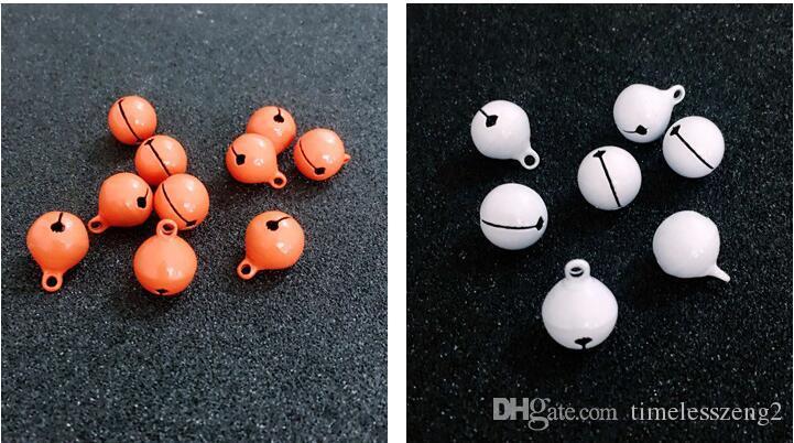 Weihnachtsglocken Durchmesser 1,5 cm stumpfe polnische Doppel Farbe hell Lack kleine Glocken DIY Karikatur Schmuck Glocken Zubehör