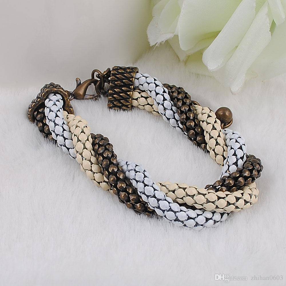 Nuova catena del braccialetto e del braccialetto di placcatura / placcatura dell'elenco che spedice liberamente