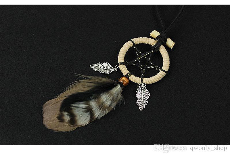 Mini Star Dreamcatcher Vintage Enchanted Forest Dream Catcher with Feather Keychain Party Favor Gift Car Hanging Wall Decoration Ornament
