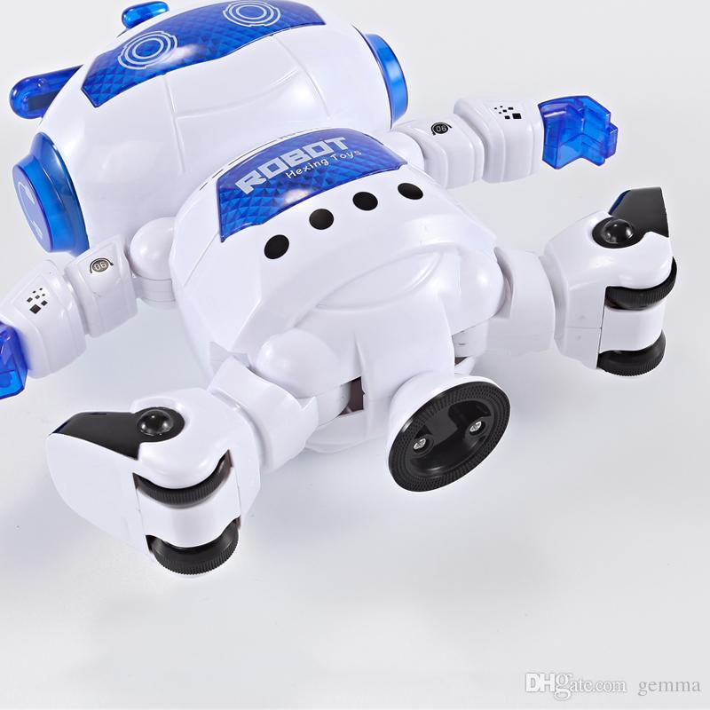 NEW Dancing Robert Electronic Toys With Music And Lightening Best Gift For Kids Model Toy Fast