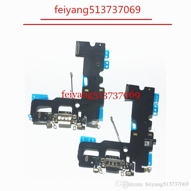 free shipping 10a17 c1cd6 10pcs 4.7 For iPhone 7 7G /7 plus 5.5 Charger Charging Port USB Dock  Connector Headphone Audio Jack Flex Cable