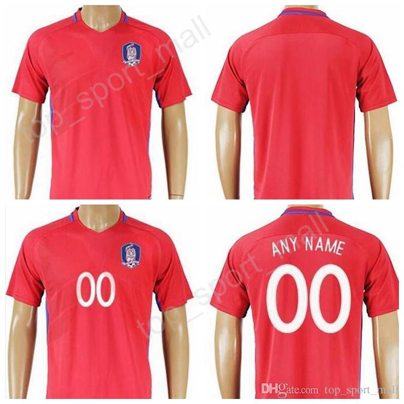 South Jersey Soccer 11 H M Son 16 S Y Ki Football Shirt Uniforms Kits  National Team Red Color Make Customized Thailand Quality UK 2019 From  Top sport mall 7d96a826c
