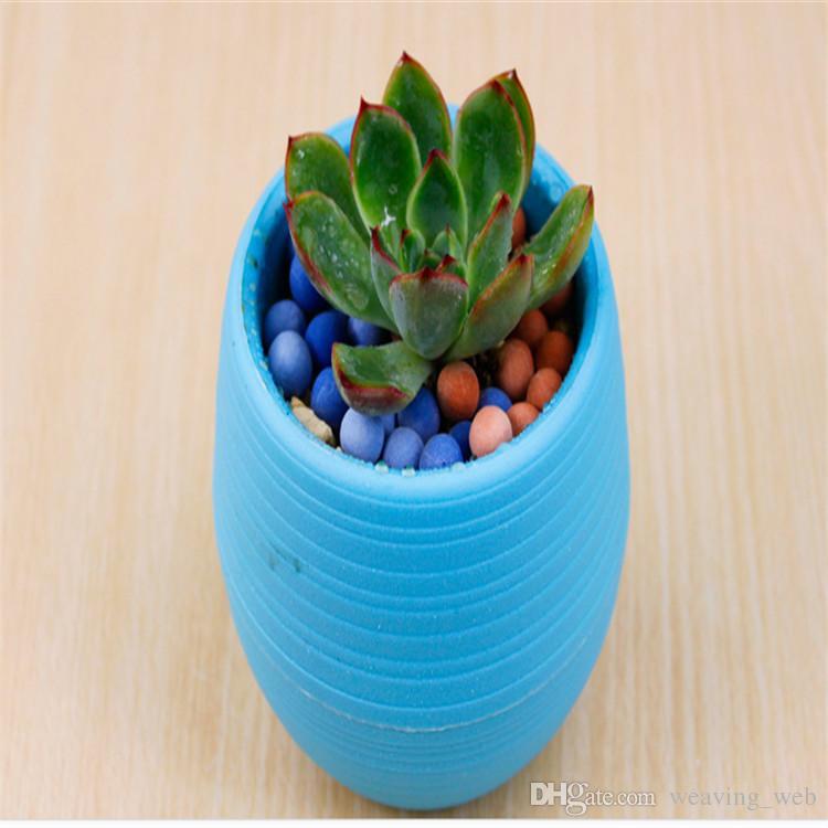 Kreş plastik saksı ev masası için Su Depolama Saksı Kapalı Saksı Ev Bahçe Dekor Ekici Kök Konteyner