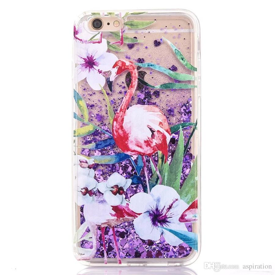 Cool Liquid Quicksand Case Cover Apple iphone 6 6S 7 Plus Bling Glitter Floating Dynamic Moving Sand Custodia protettiva in plastica rigida 3D
