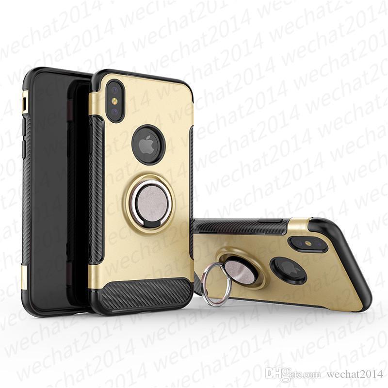 링 홀더 자석 자동차 홀더 충격 방지 아머 케이스 커버 아이폰 11 프로 맥스 X XR XS 최대 8 7 플러스 삼성 주 8 S8 S9 플러스 S10 플러스