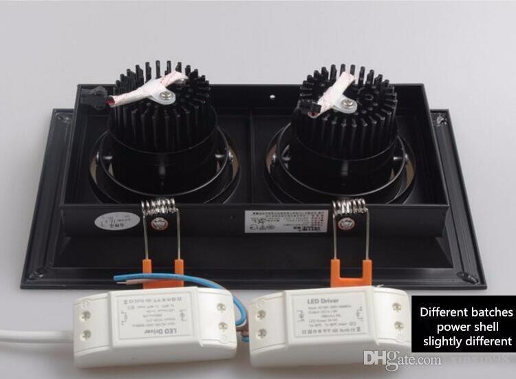 Hohe Helligkeit COB Doppelkopf-Platz LED-Downlight Dimmbare 10W 20W LED vertiefte Decken-unten helle Lampe für Heim light