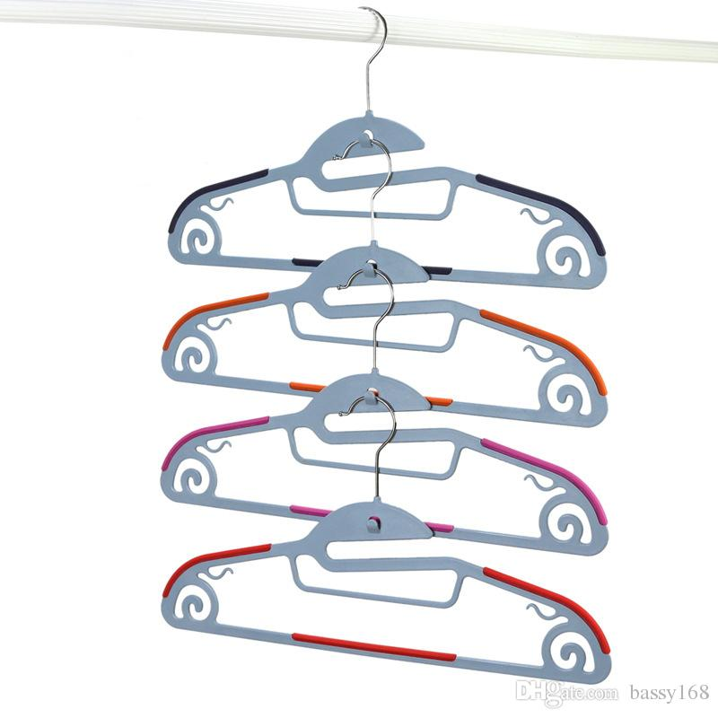 42cm Functional Dry Wet Clothes Hangers with Hook Non-slip Thin Space Save Storage Racks Plastic Hanger for Coat Suit Skirts Trousers