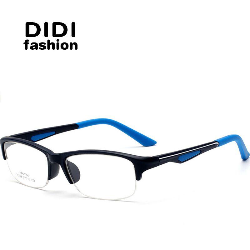 1131cc8770 2019 DIDI Men S Half Frame Clear Glasses Women Semi Rimless Rectangle Tr90 Eyeglasses  Computer Trasparent Optical Frame Luxury Eyewear Brand U568 From ...