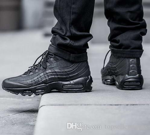 Fashion Style 95 Boots Black Men S Cushion Sneakers Ankle Boots