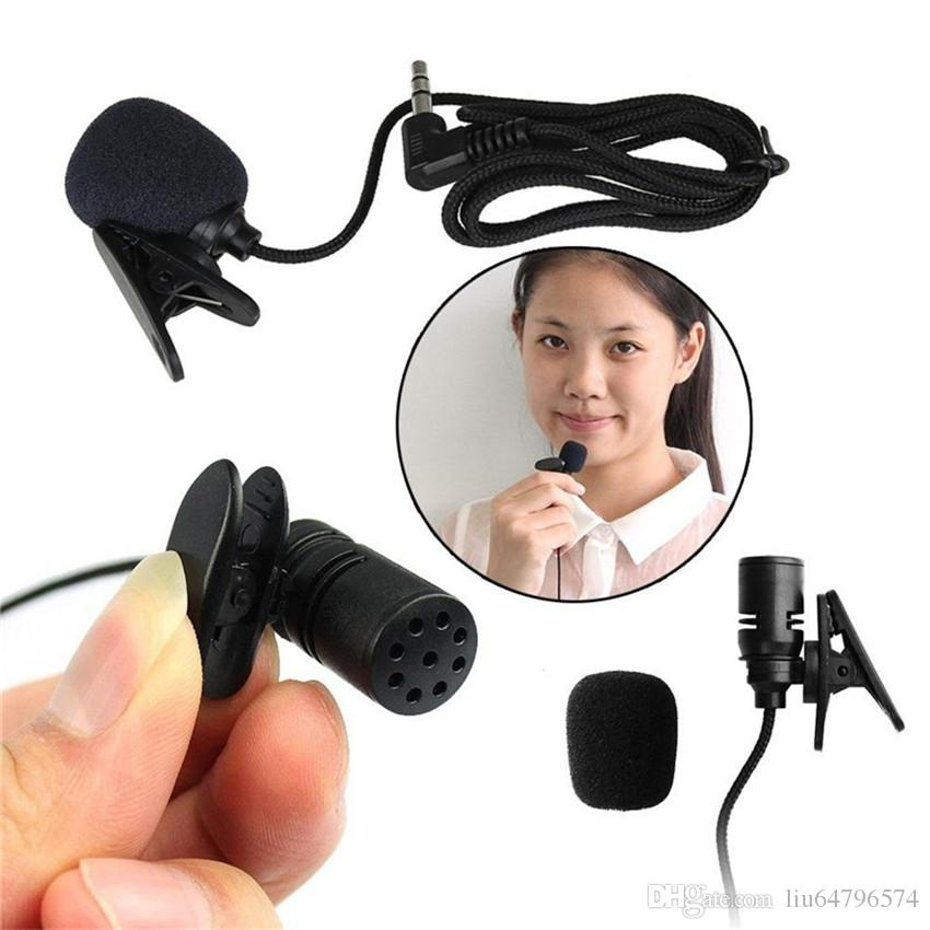 3.5mm Jack Mini Tie Clip-On solapa Lavalier con cable doble pista Micrófono Mikrafone mikrofon para la cámara de la PC SmartPhones
