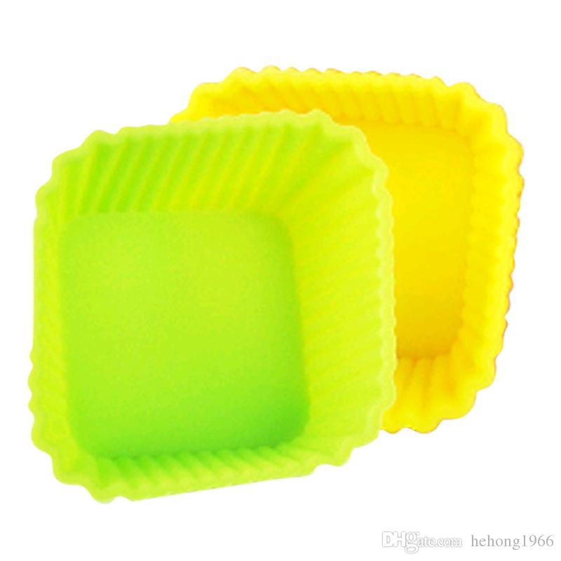 Silicone Cake Mould Square Candy Color Multi Function Baking Tools Widely Used Egg Tart Mold Hot Sell 8qt C R