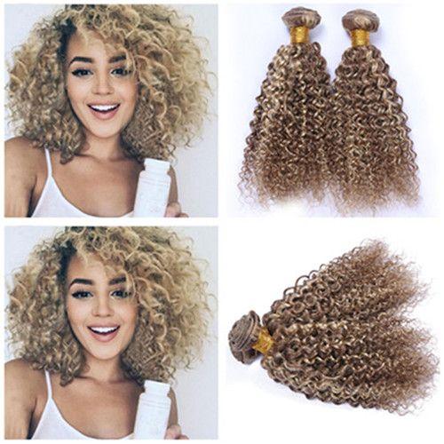 2019 Mixed Color Light Brown Blonde Highlight Human Hair Bundles